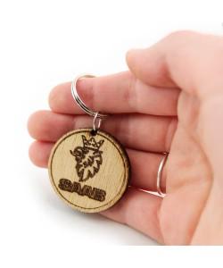 Wooden keychain - Saab