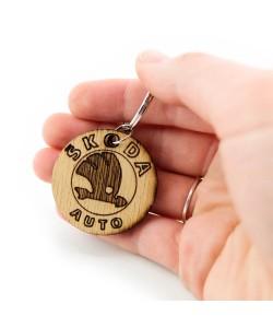 Wooden keychain - Skoda