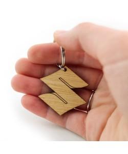 Wooden keychain - Suzuki